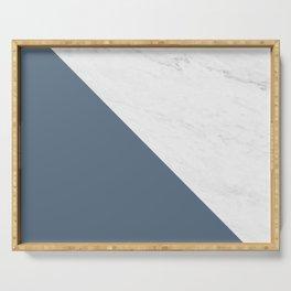 Marble Bluestone Diagonal Color block Serving Tray