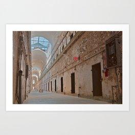 Abandoned Prison Corridor Art Print