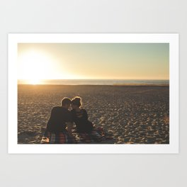 Couple Courting Art Print