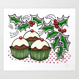 Holly Jolly Holiday Baking Art Print