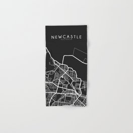 Newcastle, Australia Street Map Hand & Bath Towel