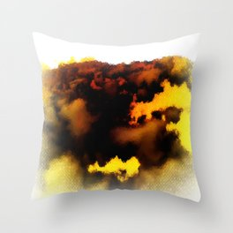 Trouble Brewing Throw Pillow