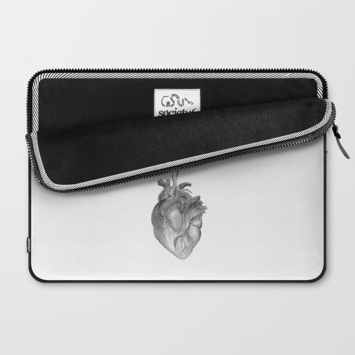 "Heart ""beet"" (black and white version) Laptop Sleeve"
