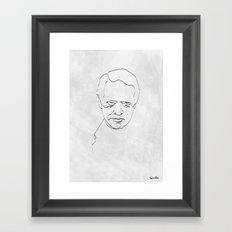 One Line Number 6 Framed Art Print