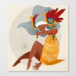 Aztec Diva Canvas Print