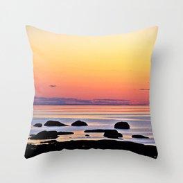 Yellow Skies of Summer Throw Pillow