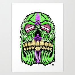fat head skull Art Print