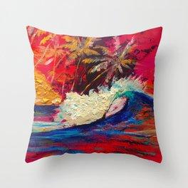 Dream surf Sumatra Throw Pillow