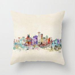 seattle city skyline Throw Pillow