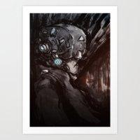 cyberpunk Art Prints featuring Cyberpunk 001  by Thecansone