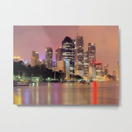 Brisbane City Metal Print