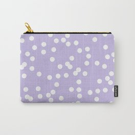 lavender polka dots little Carry-All Pouch
