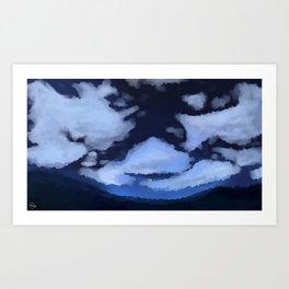 Stars Over La Noscea Art Print