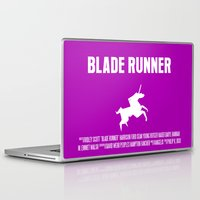 blade runner Laptop & iPad Skins featuring Blade Runner Movie Poster by FunnyFaceArt