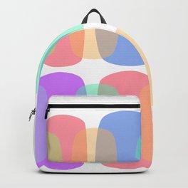 Breezy Pastel Curves Backpack