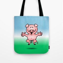 Cheerful little pig Tote Bag