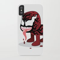 carnage iPhone & iPod Cases featuring CARNAGE ROBOTIC by We Are Robotic