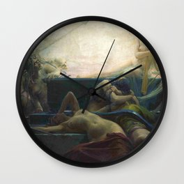 Finis (The End of All Things) Magical Realism Greek Mythology by Maximilian Pirner Wall Clock