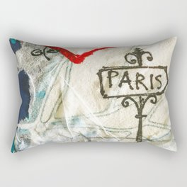 Paris Roadmap of Love Rectangular Pillow