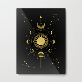 Sole Luna Metal Print
