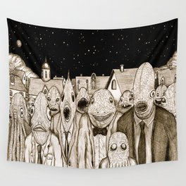 Innsmouth Meeting Wall Tapestry