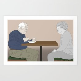 The loss of a soulmate Art Print