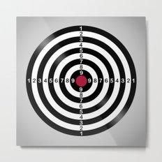 Dart Target Game Metal Print