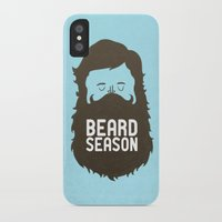 quote iPhone & iPod Cases featuring Beard Season by Chase Kunz