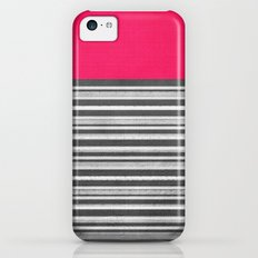 Pink Gray Stripes iPhone 5c Slim Case
