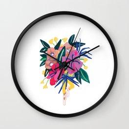 Ballerina Floral Babe Wall Clock