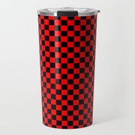 schwarz rot kariert Travel Mug