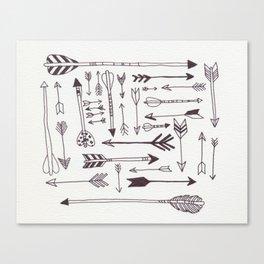 Arrows - B + W Canvas Print