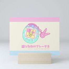 Kawaii D.Va Tamagotchi Mini Art Print