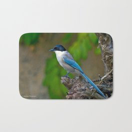 Azure-winged Magpie Bath Mat