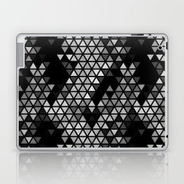 Geometric Fractal Triangles Black Noir Laptop & iPad Skin