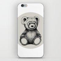 teddy bear iPhone & iPod Skins featuring Teddy Bear by Nicole Cioffe