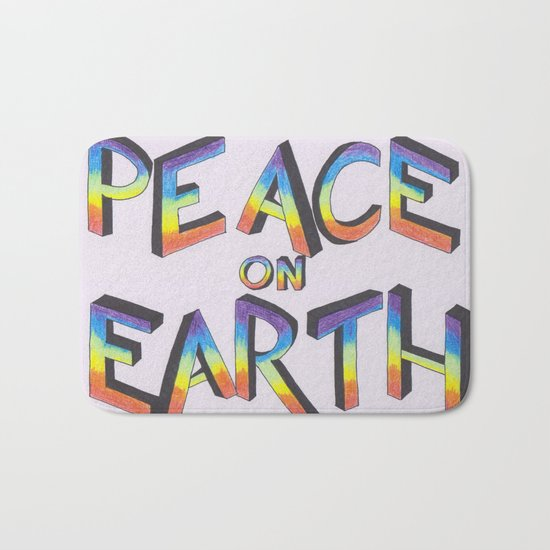 Let there be peace Bath Mat
