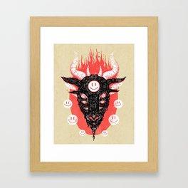 Smiley Baphomet Framed Art Print