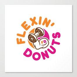 Flexin Donuts Canvas Print