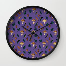 forest fruits ultra violet Wall Clock