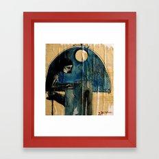 paper room Framed Art Print
