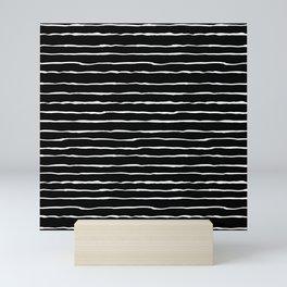 Modern Black and White Stripes Mini Art Print