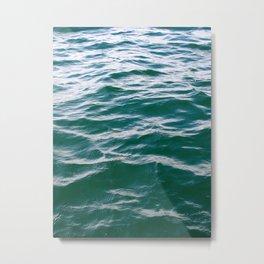 wavey Metal Print