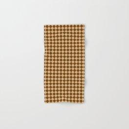 Tan Brown and Chocolate Brown Diamonds Hand & Bath Towel