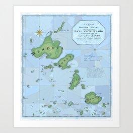 Dane Archipelago in Blue Art Print