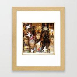 Halloween Wigs Framed Art Print