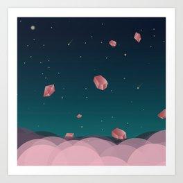 Luna Diamonds Art Print