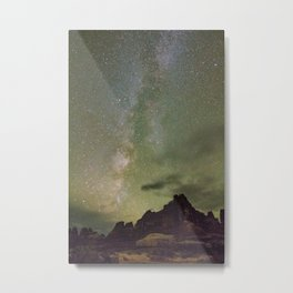Milkyway over Elephant Canyon Metal Print