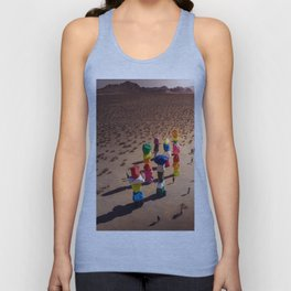 Strange Rocks - 7 Magic Mountains in Las Vegas Unisex Tank Top
