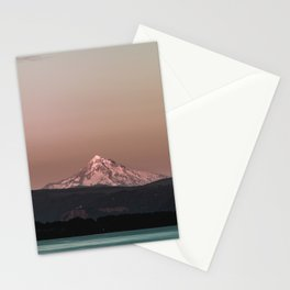 Pastel Peak - Mt. Hood over the Columbia Stationery Cards
